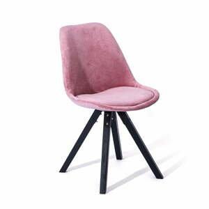 Súprava 2 ružových jedálenských stoličiek loomi.design Dima
