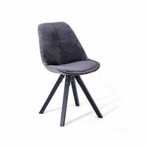 Súprava 2 tmavosivých jedálenských stoličiek loomi.design Dima