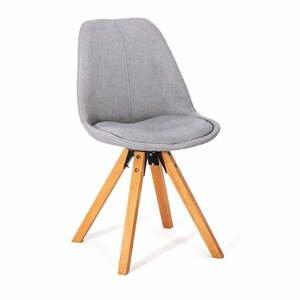 Súprava 2 svetlosivých jedálenských stoličiek loomi.design Dima