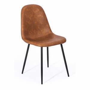Súprava 2 hnedých jedálenských stoličiek loomi.design Lissy
