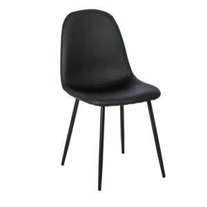 Súprava 2 čiernych jedálenských stoličiek loomi.design Lissy