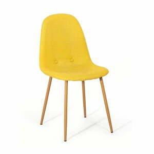 Súprava 2 žltých jedálenských stoličiek loomi.design Lissy
