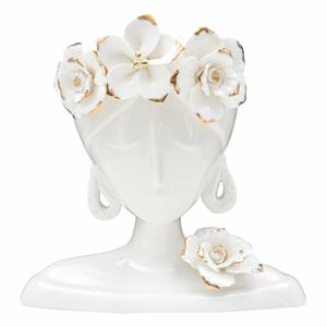 Biela porcelánová váza Mauro Ferretti Young Woman
