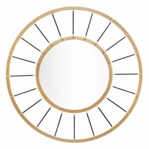 Nástenné zrkadlo v zlatej farbe Mauro Ferretti Glam Dark, ø 81 cm