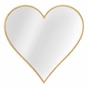 Nástenné zrkadlo v ráme v zlatej farbe Mauro Ferretti Glam Heart