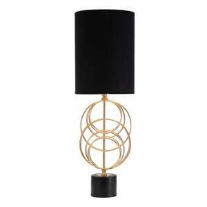 Čierna stolová lampa Mauro Ferretti Circly, výška 65 cm