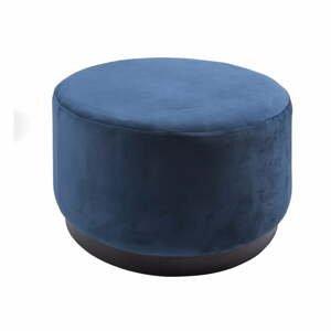 Modrý puf Leitmotiv Wood