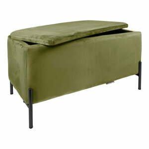 Zelená lavica s úložným priestorom Leitmotiv Snog