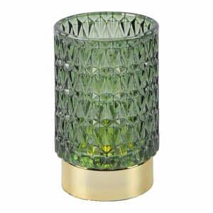 Zelená LED sklenená stolová lampa PT LIVING Diamond