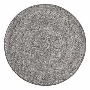 Svetlosivý vonkajší koberec Bougari Almendro, Ø 160 cm