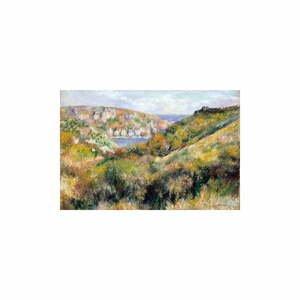 Reprodukcia obrazu Auguste Renoir - Hills around the Bay of Moulin Huet, Guernsey, 60 x 40 cm