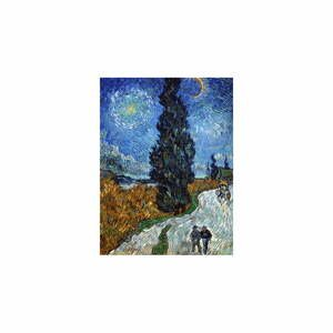 Reprodukcia obrazu Vincent van Gogh - Country Road in Provence by Night, 80 x 60 cm