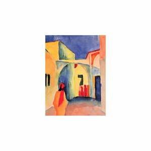 Reprodukcia obrazu August Macke - A Glance Down an Alley, 60 x 45 cm