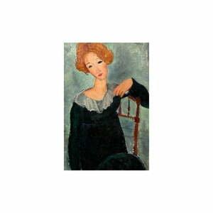 Reprodukcia obrazu Amedeo Modigliani - Woman with Red Hair, 60 x 40 cm