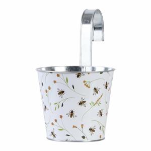Závesný kvetináč s potlačou Esschert Design Bee, 1,85 l