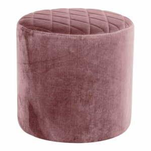 Ružový zamatový puf loomi.design Ejby
