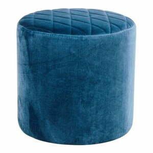 Modrý zamatový puf loomi.design Ejby