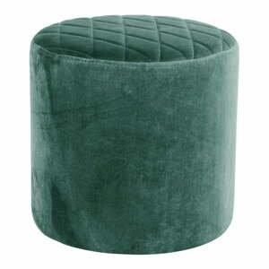 Zelený zamatový puf loomi.design Ejby