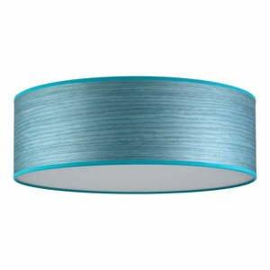 Modré stropné svietidlo z prírodnej dyhy Ocho Bulb Attack XL, ⌀ 45 cm