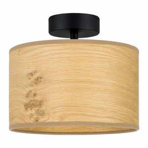 Béžové stropné svietidlo z drevenej dyhy Bulb Attack Ocho S, ⌀ 25 cm