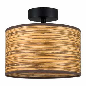 Hnedé stropné svietidlo z drevenej dyhy Bulb Attack Ocho S, ⌀ 25 cm