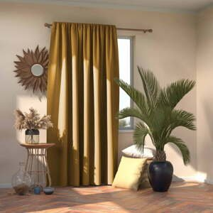 Horčicovožltý záves AmeliaHome Mustard, 140 x 245 cm