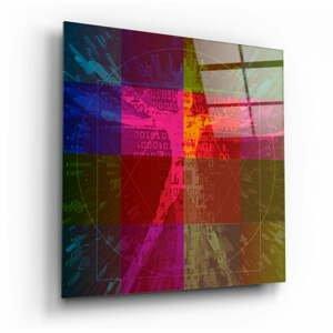 Sklenený obraz Insigne Da Vinci's Lines, 100 x 100 cm