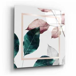 Sklenený obraz Insigne Scandinavian Style Leaves, 100 x 100 cm