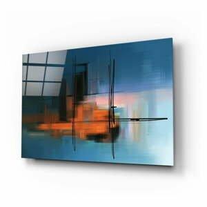 Sklenený obraz Insigne Abstract Silhouette, 110 x 70 cm