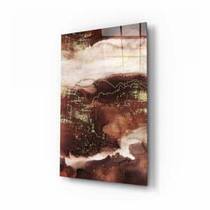 Sklenený obraz Insigne Abstract Toprak, 110 x 70 cm