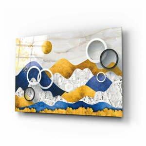 Sklenený obraz Insigne Colorful Mountains, 110 x 70 cm