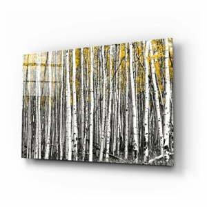 Sklenený obraz Insigne Yellow Forest, 110 x 70 cm