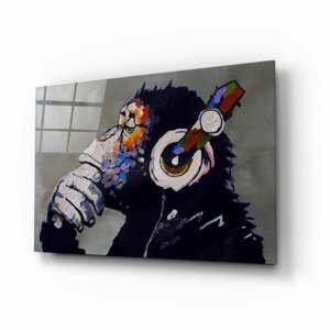Sklenený obraz Insigne Thinking Monkey, 110 x 70 cm