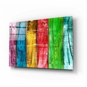 Sklenený obraz Insigne Colored Wood, 110 x 70 cm