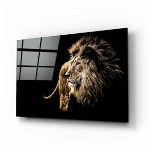 Sklenený obraz Insigne Majestic Lion, 110 x 70 cm