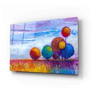 Sklenený obraz Insigne Colorful Trees, 110 x 70 cm