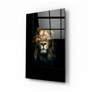 Sklenený obraz Insigne Lion, 70 x 110 cm