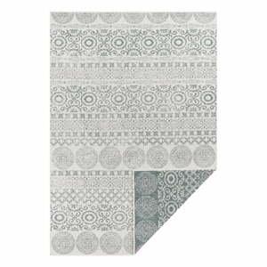 Zeleno-biely vonkajší koberec Ragami Circle, 120 x 170 cm