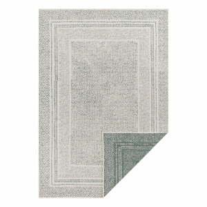 Zeleno-biely vonkajší koberec Ragami Berlin, 200 x 290 cm