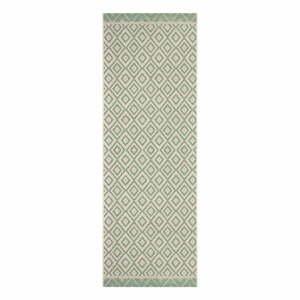 Zeleno-béžový vonkajší behúň Ragami Porto, 70 x 200 cm