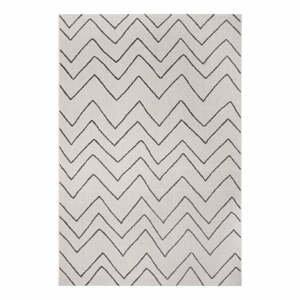 Čierno-sivý vonkajší koberec Ragami Lisbon, 80 x 150 cm