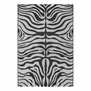 Čierno-sivý vonkajší koberec Ragami Safari, 160 x 230 cm