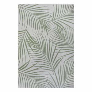 Zeleno-sivý vonkajší koberec Ragami Flora, 80 x 150 cm