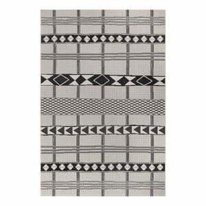 Čierno-sivý vonkajší koberec Ragami Madrid, 120 x 170 cm