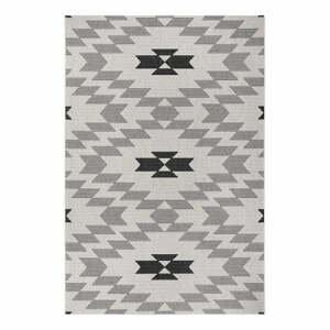 Čierno-biely vonkajší koberec Ragami Geo, 80 x 150 cm