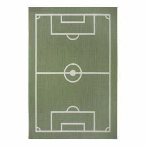 Zelený detský koberec Ragami Playground, 80 x 150 cm