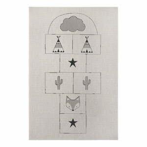 Sivý detský koberec Ragami Games, 80 x 150 cm
