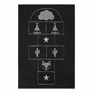 Čierny detský koberec Ragami Games, 80 x 150 cm
