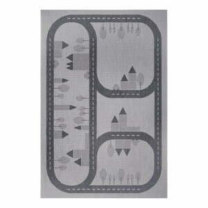 Sivý detský koberec Ragami Roads, 120 x 170 cm