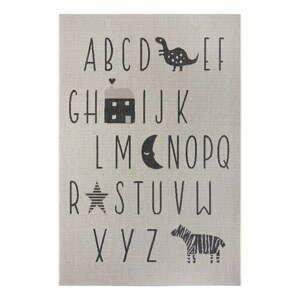 Čierno-sivý detský koberec Ragami Letters, 200 x 290 cm